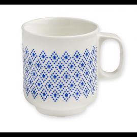 Kubek porcelanowy Blue Geometrics