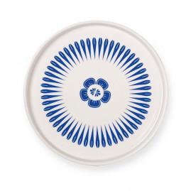 Talerz porcelanowy Blue Geometrics