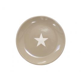 Talerz deserowy z gwiazdką brązowy