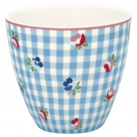 Kubek latte Viola Check Pale Blue