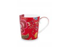 "Kubek porcelanowy Floral Fantasy Red ""C"""