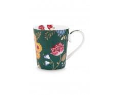 "Kubek porcelanowy Floral Fantasy Green ""T"""