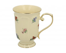 Kubek porcelanowy w kwiaty