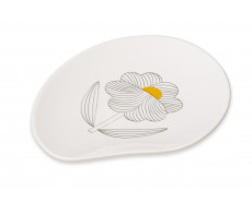 Talerz porcelanowy Gray Flower