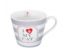 Kubek Porcelanowy I Love My Cat