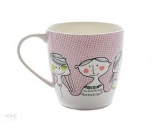 Kubek porcelanowy z buźką różowa Sandra Isaksson