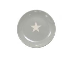 talerz deserowy z gwiazdką szary