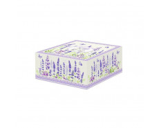 Kubek porcelanowy z łyżeczką Lavender Field