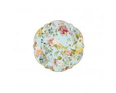 talerz porcelanowy w kwiaty
