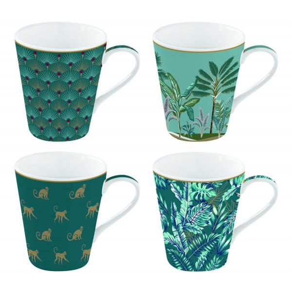 Kubki porcelanowe Coffeemania Jungle Easy Life
