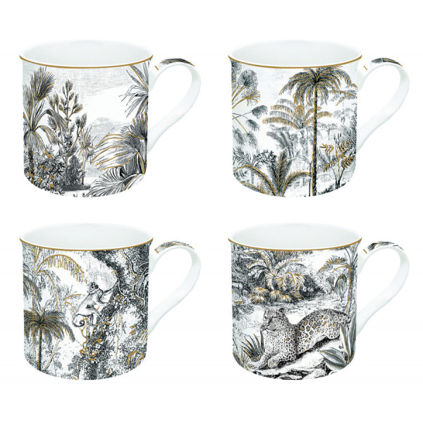 Kubki porcelanowe Coffeemania Retro Jungle