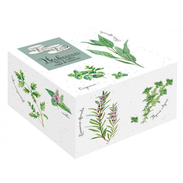 Filiżanki do espresso Herbarium