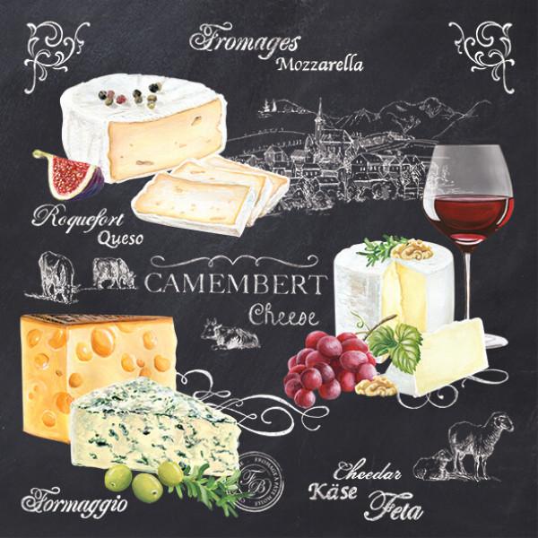 Serwetki papierowe World of cheese