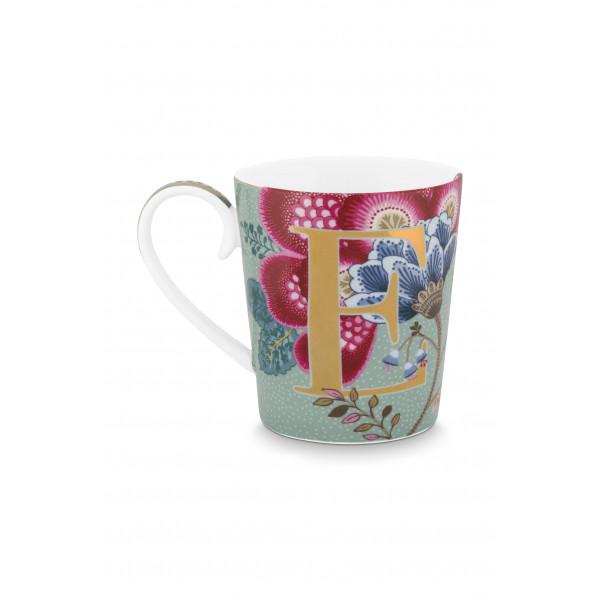 "Kubek porcelanowy Floral Fantasy Light Blue ""E"""