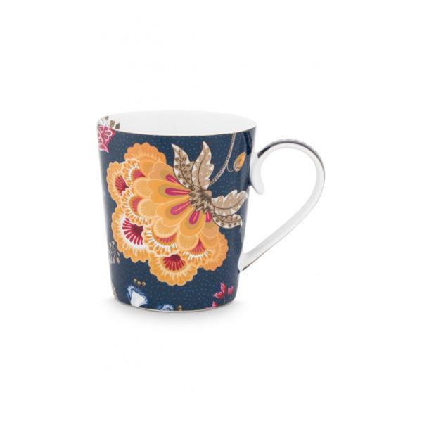 """Kubek porcelanowy Floral Fantasy Blue """"J"""""""