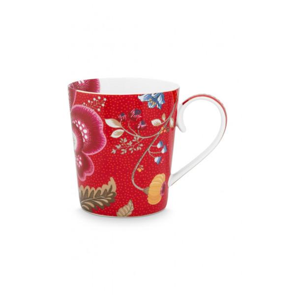 "Kubek porcelanowy Floral Fantasy Red ""O"""