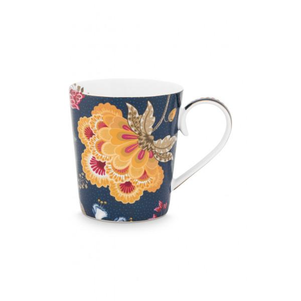 "Kubek porcelanowy Floral Fantasy Blue ""P"""