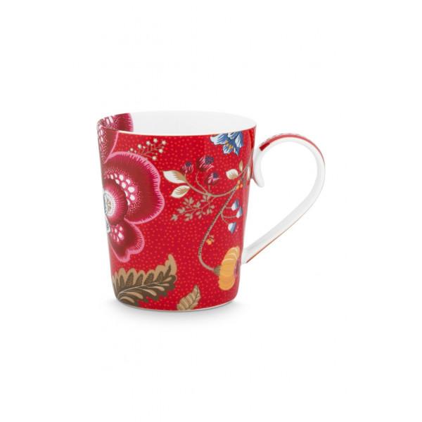 "Kubek porcelanowy Floral Fantasy Red ""U"""