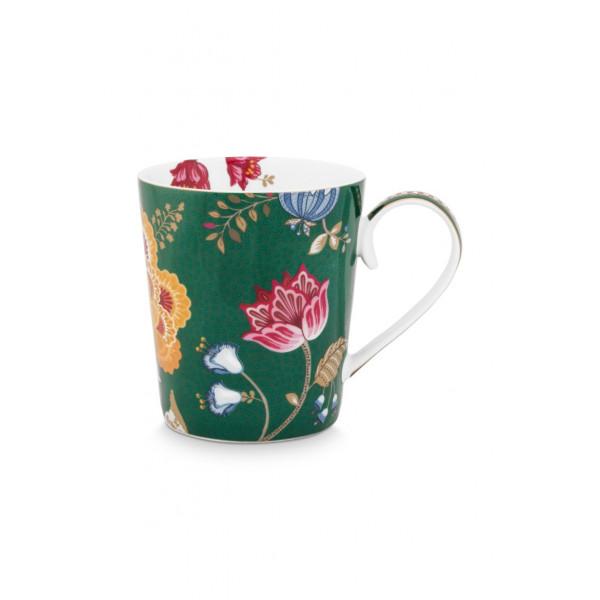 "Kubek porcelanowy Floral Fantasy Green ""Z"""