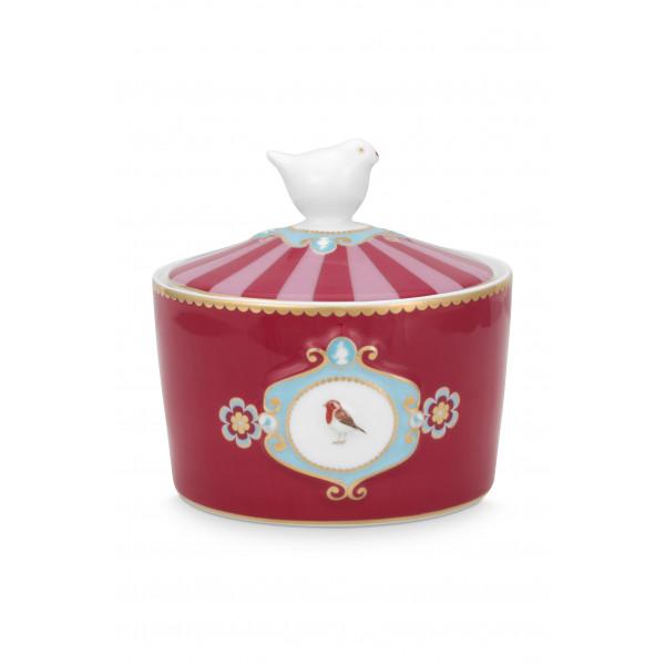 Cukiernica Love Birds Medallion Red-Pink
