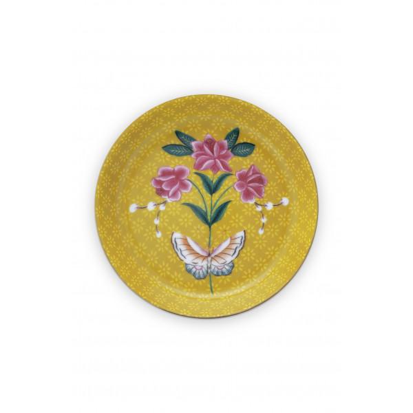 Talerzyk na herbatę Blushing Birds Yellow
