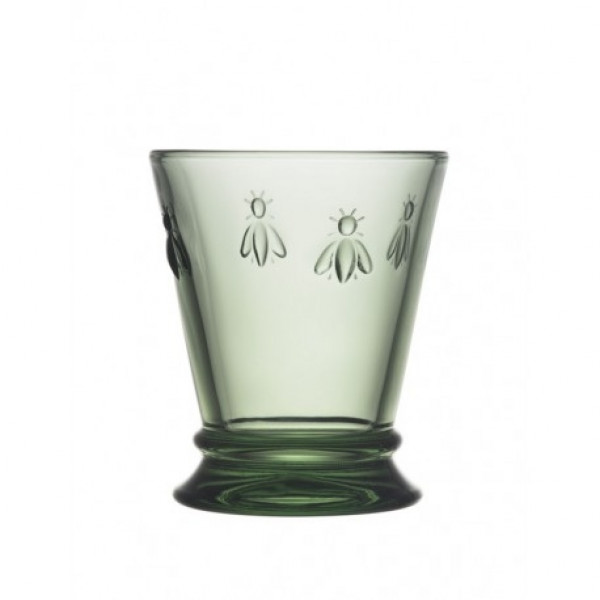 szklanka zielona pszczoła