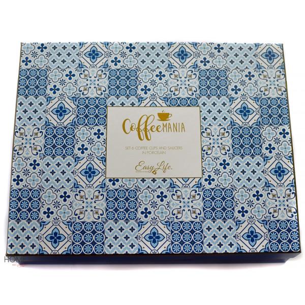 Filiżanki do espresso Coffeemania Blue gift box