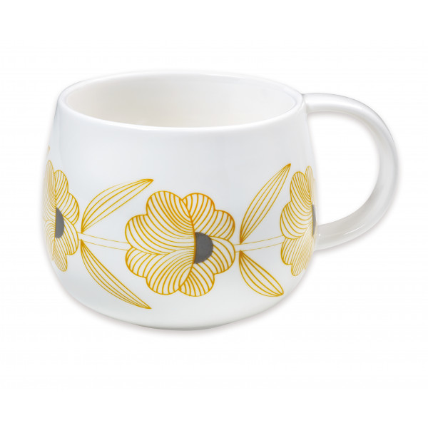 Kubek porcelanowy Yellow Flowers