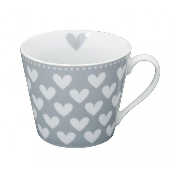 kubek porcelanowy w serca