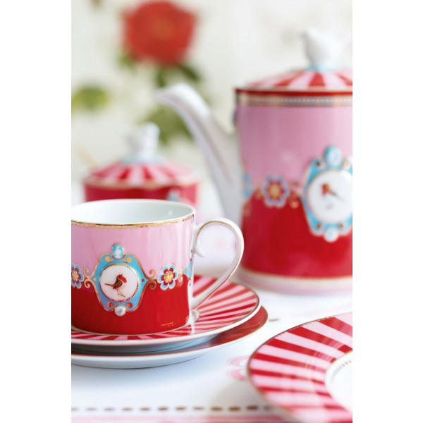 Kubek Love Birds Medallion Red-Pink 250 ml