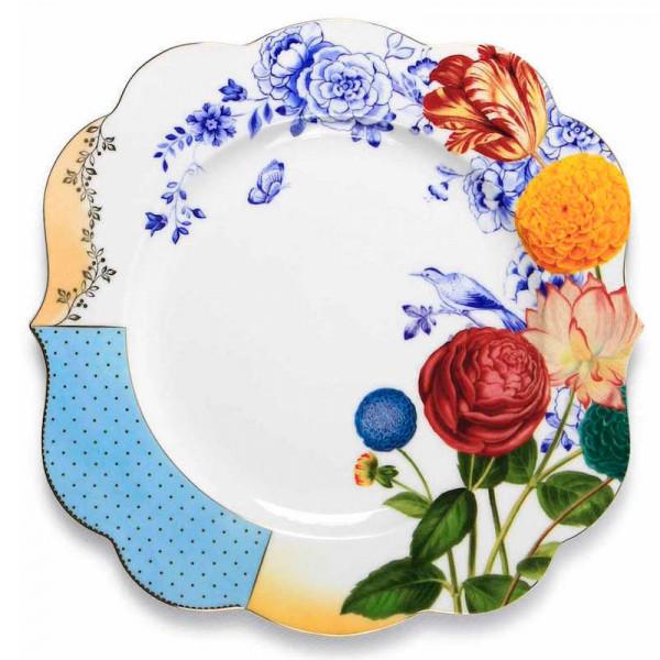 talerz obiadowy w kwiaty