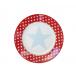 Talerz deserowy Big Star czerwony